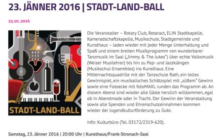 Programm Weizball 2016